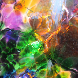Rainbow Fantasy Garden Ball. by Jessica Sawyer-Wilson - Artistic Objects Glass