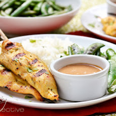 Thai Chicken Satay with Spicy Peanut Sauce (Sears Giveaway)