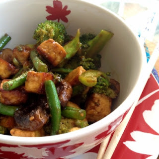 Oriental Style, Stir-fried Tofu And Hoisin Dish