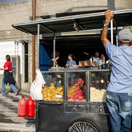 Street Food Vendor  by Samy St Clair - People Street & Candids ( sao paulo, brazil, slice of life, street food, food, vendor, sidewalks, candid, street scene, people, street photography )