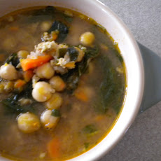 Hearty Chick Pea and Greens Soup
