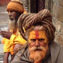 Sadhus of Kathmandu by Rose Hawksford - People Portraits of Men