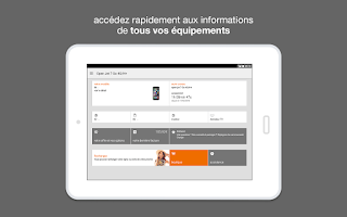 Screenshot of Orange et moi, l'espace client
