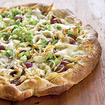 Chicken, Red Grape, and Pesto Pizza