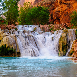 water fall by F Jin - Landscapes Waterscapes ( havasupai, water fall )