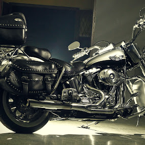 harley by Rully Kustiwa - Transportation Motorcycles ( harley davidson, big bike, strobist, canon eos )
