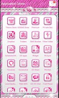 Screenshot of ♦ BLING Theme Pink Zebra SMS ♦