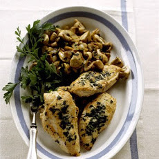 Warm Chicken, Mushroom, and Spinach Salad