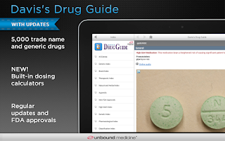 Screenshot of Davis's Drug Guide