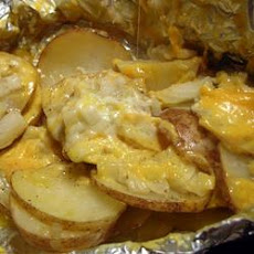 Cheesy Campfire Potatoes