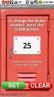 Screenshot of My Locker Number