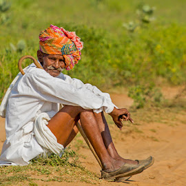 Indian Farmer by Mukesh Chand Garg - People Portraits of Men (  )
