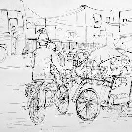 :: In front of Darmo Trade Centre-Surabaya-East Java :: by Miranti Minggar T - Drawing All Drawing