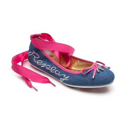 Replay Ealing Denim Pump BALLERINA