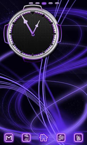 Neon Purple Style Go Launcher