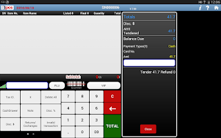Screenshot of BPOS cloud pos system