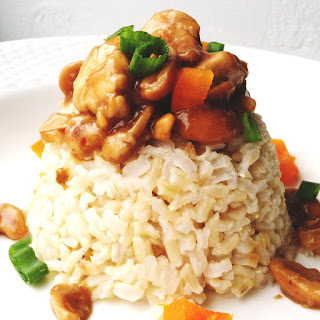 Asian Cashew Chicken with Brown Rice