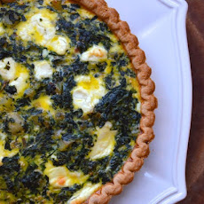 Potato, Spinach, and Goat Cheese Quiche