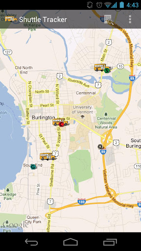 Champlain Shuttle Tracker