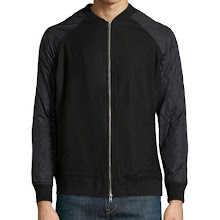 Cohesive Samuel Lite Quilted Wool-Blend Varsity Jacket, Black - (SMALL)