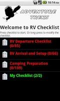 Screenshot of RV Checklist
