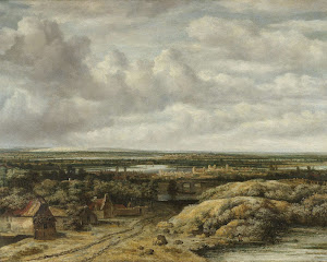 RIJKS: Philips Koninck: Distant View with Cottages along a Road 1655