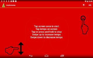 Screenshot of Andronome, the Great Metronome