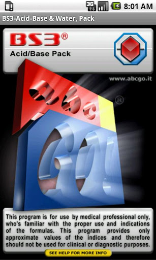 BS3 Acid-Base Water Pack