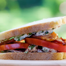 Tomato and Bacon Sandwiches with Bacon Basil Mayo