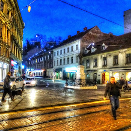 Evening walk  by Tihomir Beller - City,  Street & Park  Street Scenes