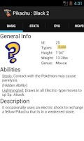 Screenshot of Pokedex