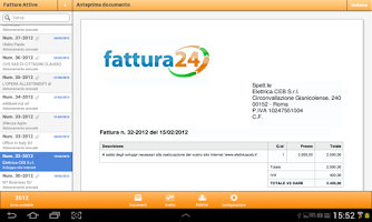 Screenshot of Fattura24 HD