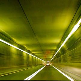 Speed of light by Manisha Sharma - Abstract Light Painting ( underpass, automobile, night, light,  )
