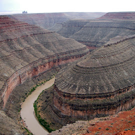 Goosenecks State Park by Terry Niec - Landscapes Caves & Formations ( mexican hat, utah, bend, gooseneck, canyon, river,  )