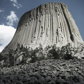 Devil's Tower, Wyoming by Tyrell Heaton - Landscapes Mountains & Hills ( wyoming, devil's tower )