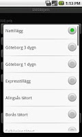 Screenshot of SMSBiljett (GRATIS)