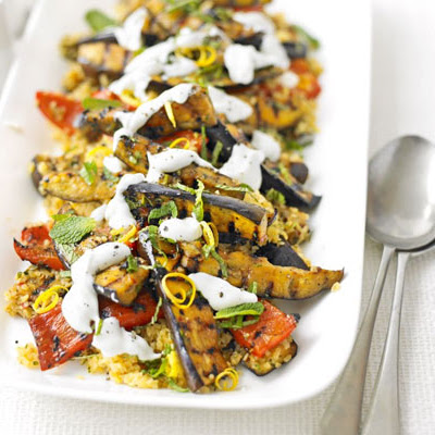 Spiced Veg With Lemony Bulghar Wheat Salad