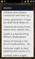Screenshot of Shakespeare Quotes
