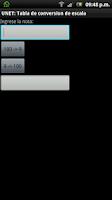 Screenshot of UNET: Tabla de conversión