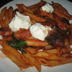 Pasta with Roasted Eggplant-Tomato Sauce