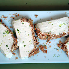 Lime Semifreddo with Pretzel Crust