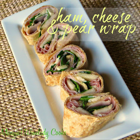 Ham, Cheese And Pear Wrap