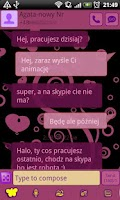 Screenshot of GO SMS Pro Purple&Black Theme