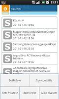 Screenshot of Sancho blogja