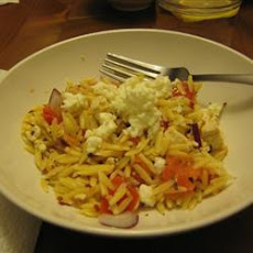 Tofu And Feta Orzo