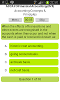 Screenshot of ACCA F3 Financial Accounting