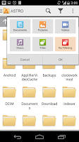Screenshot of ASTRO File Manager with Cloud