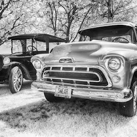 Pride and Joy by Tom Reiman - Transportation Automobiles ( chevrolet, automobile, infrared, restored )