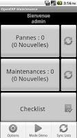 Screenshot of OpenERP Maintenance