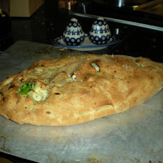 Chicken, Cheese, and Broccoli Calzone